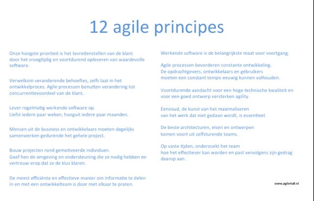 12 agile principes