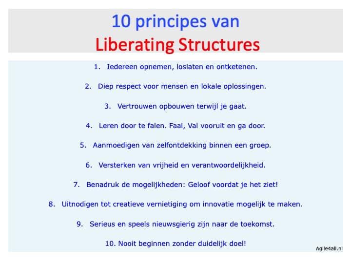 10 principes Liberating Structures - Nederlands