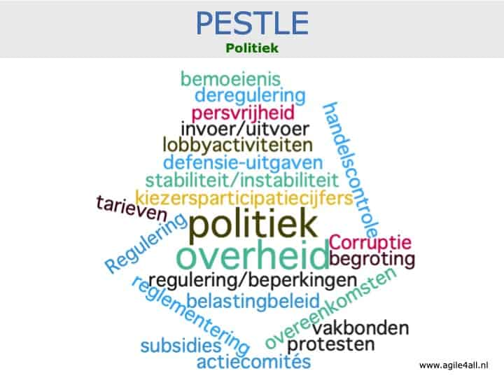 PESTLE - politiek - woordwolk
