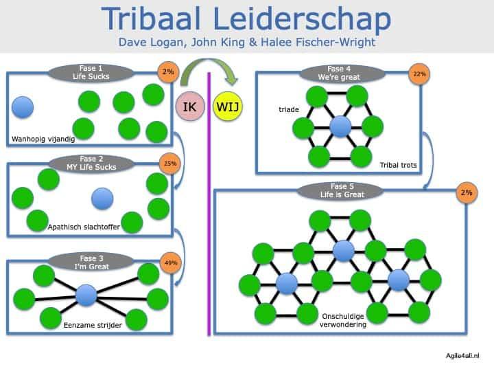 Tribaal Leiderschap - 5 fasen