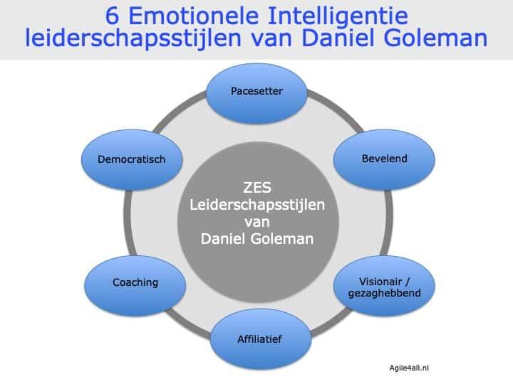 Zes Emotionele Intelligentie leiderschapsstijlen van Daniel Goleman