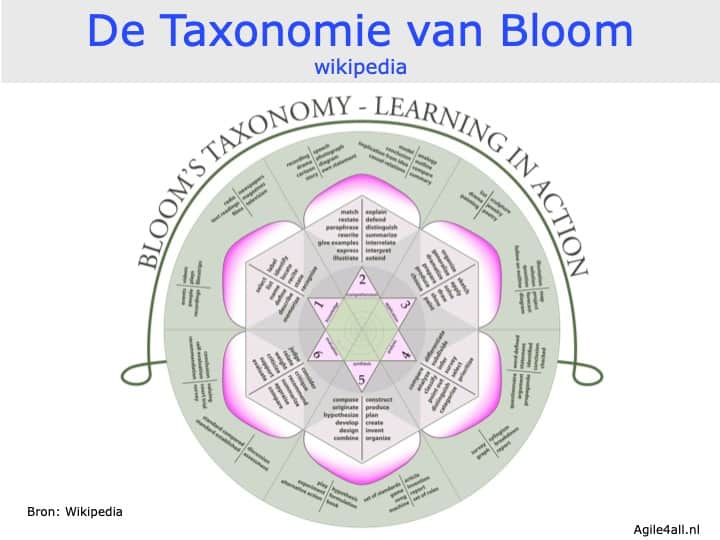taxonomie Bloom - totaaloverzicht