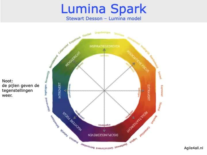 Lumina Spark - Stewart Desson - Lumina model - tegengestelde aspecten