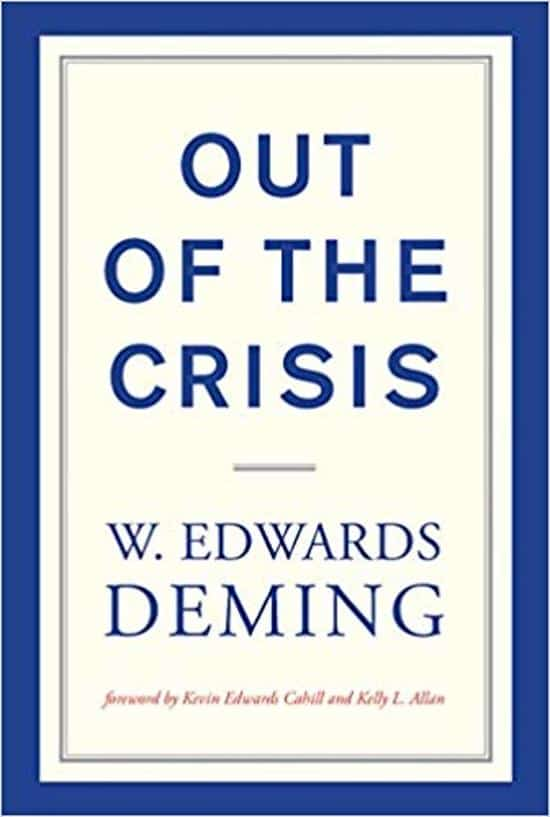 Out of The Crisis - W. Edwards Deming - cover